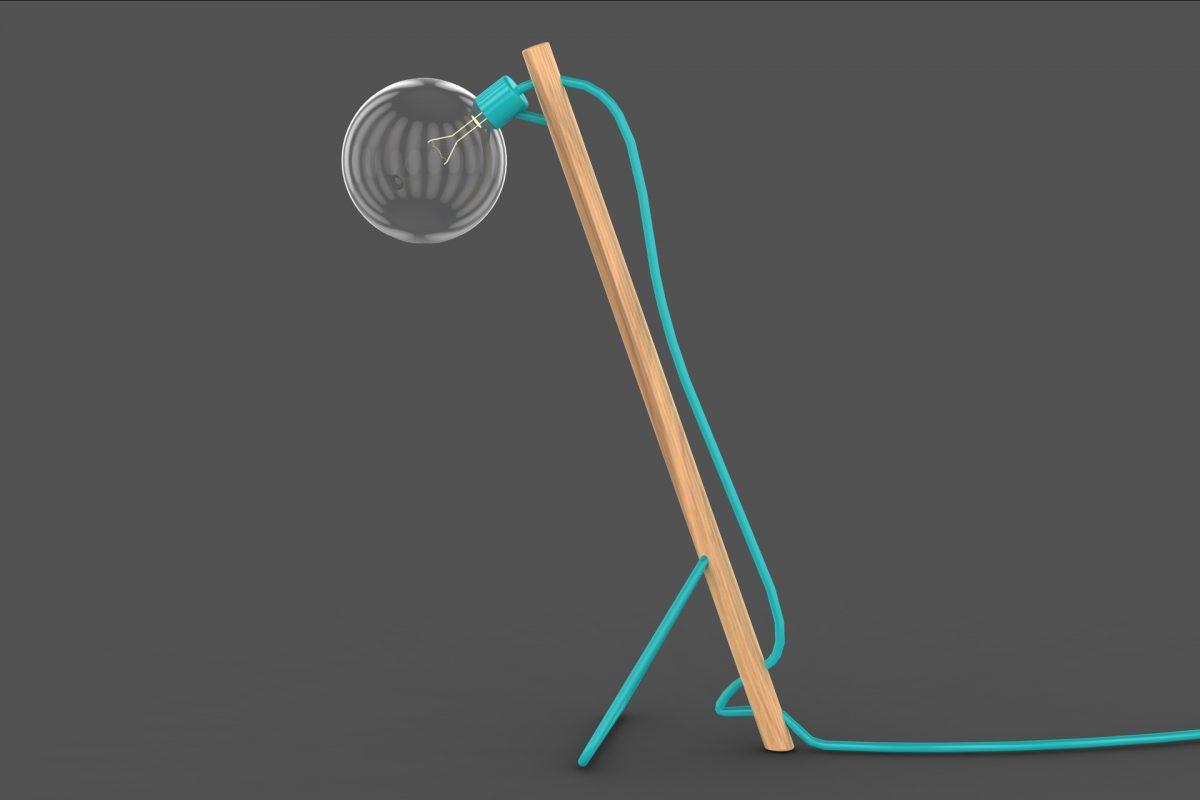 Flat-pack Diseñamos la lámpara para facilitar su transporte y armado.